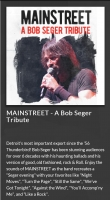Mainstreet a Bob Seger Tribute with Bad Moon Rising a CCR Tribute